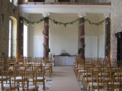 Main Hall set up for a Ceremony with 120 Guests